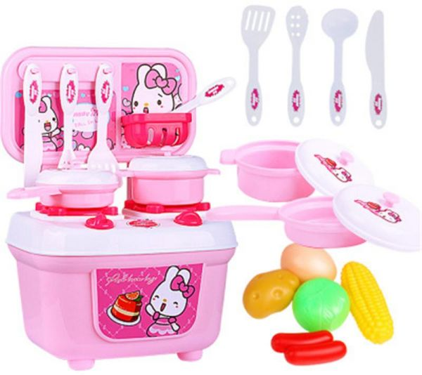 Baby Miniature Kitchen Plastic Pretend Play Food Children Kids Toys For S Boys Simulation Cooking Cookware Set Souq Uae