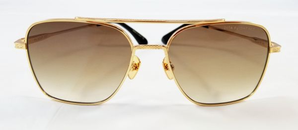 29fad5a3a054 DITA FLIGHT 007 DTS111 GOLD POLISHED AVIATOR SUNGLASSES WITH BROWN GRADIENT  LENS UNISEX