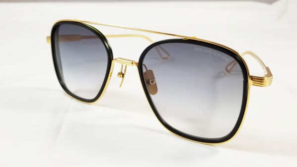 a12638c4edb55 Dita System One Aviator Sunglasses Model DTS 103 with Gold brushed Frame  and Grey Gradient Lens Unisex