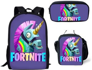 f20a0c28a882 Fortnite Backpack School Bag for Girls Boys Students Laptop Bag Casual Bookbag  School Backpacks Set