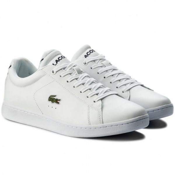 71410947f0 Lacoste White Lace Up Shoes For Men