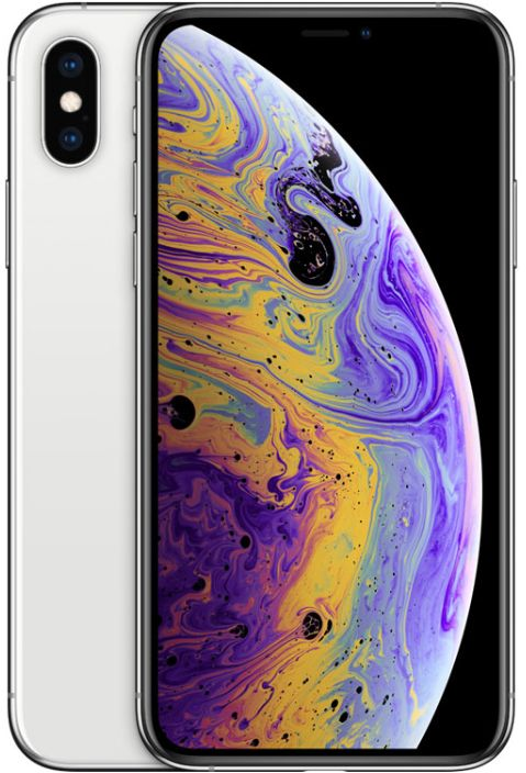 Apple Iphone XS Max With Facetime - 64 GB, 4G LTE, Silver, 4 GB Ram, Single Sim & E-Sim