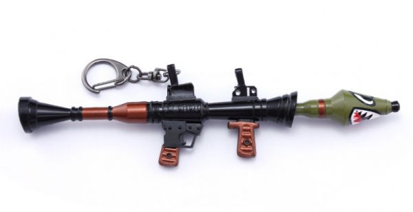 Unique Style Zinc Alloy Fortnite Keychain Shark Gun Rocket Launcher