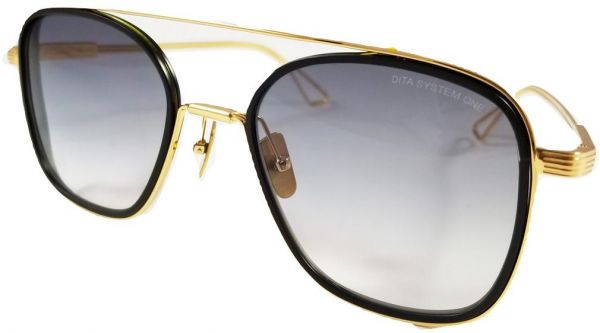bc84b635f11c Dita System One Aviator Sunglasses Model DTS 103 with Gold brushed Frame  and Grey Gradient Lens Unisex