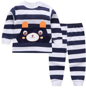 Cotton comfortable children Sleepwear set boys and girls 0-5 years old baby  pajamas 02 656fa9622
