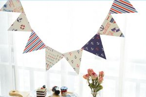 66e2ae294 Happy Birthday Anchor Hanging Bunting Banners, Party Decorations Signs,  multi-color Flags for Baby