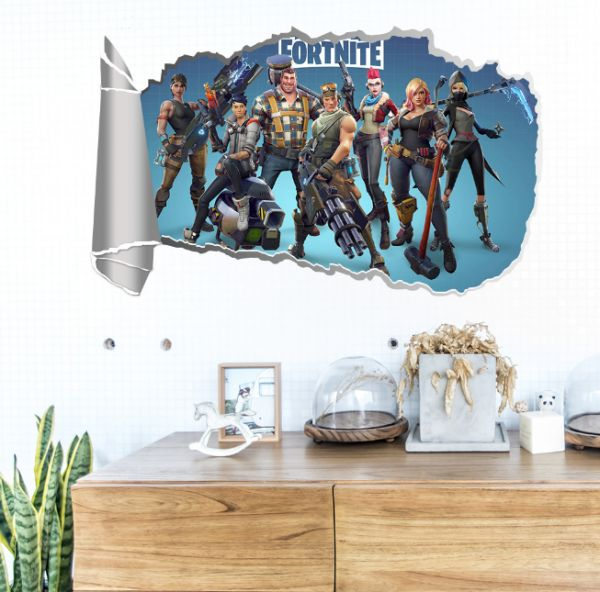 Game Fortnite Wall Sticker Living Room Bedroom Wallpaper Fortnite