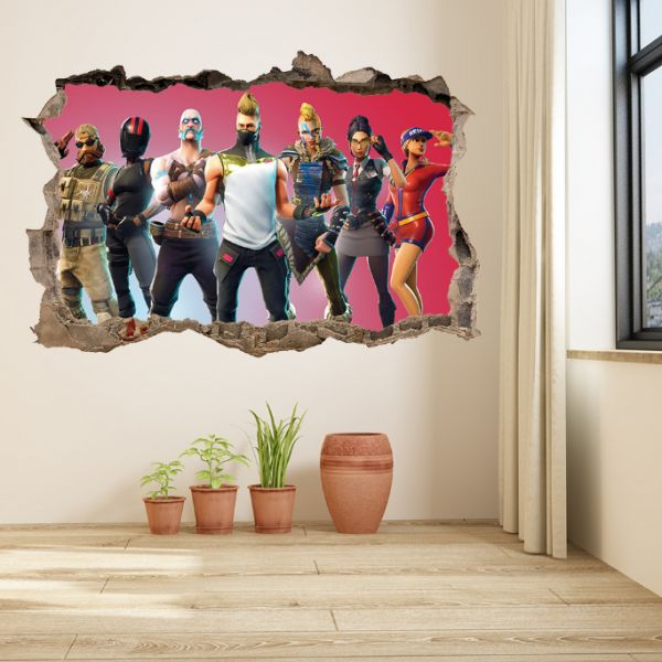Fortnite Game Member Wall Sticker Living Room Wallpaper Fortnite
