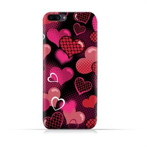 AMC Design Oppo A3s TPU Silicone Protective case with Valentine Hearts Seamless Pattern Design