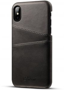 Iphone X Leather Back Case Men Ultra Thin Business Card Holder