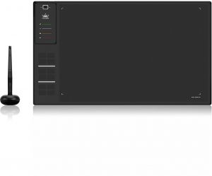 HUION WH1409 V2 Battery-Free Wireless Graphics Tablet 8192 Level with Tilt  Function-12 Express Keys