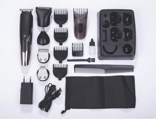 Hatteker Mens Beard Trimmer Kit All-in-One Hair Trimmer for Nose & Ear, Cordless Mustache Trimmer Body Grooming Kit for Men Rechargeable USB | Souq - UAE