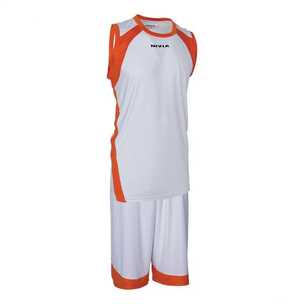 Nivia Phantom Basketball Jersey Set for Men - White 24cad0c05