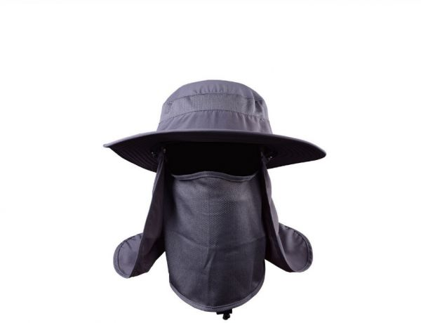 4cd225aa37e Removable Fishing Hat Jungle Cap Men   Women Windbreak Mosquito ...