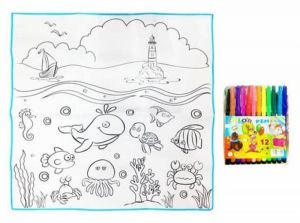 Fantastic Color Drawing Mat With Sketch For Kids Size 50 Cm
