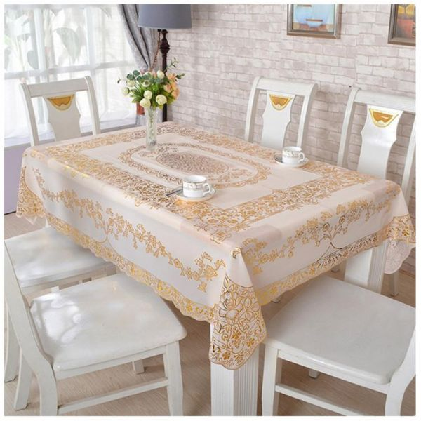 Vinyl Tablecloth Gold Sequin Pvc Table Cloth Eco Friendly Waterproof