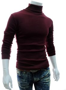 dfc4ae0e79 Men s high collar full sleeves tight pullover soft woolen sweater in autumn  and winter