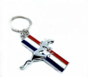 Car Key Chain Ford Mustang Tricolor Metal Key Mondeo Buckle Key Ring