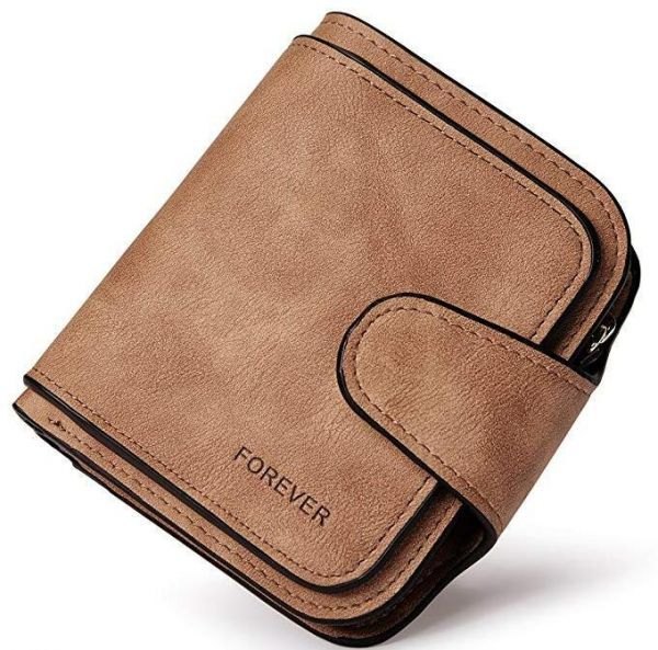low priced 921c5 217af Wallet for Women Leather Clutch Purse Long Ladies Credit Card Holder  Organizer Brown