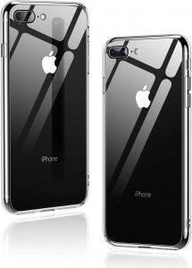 iPhone 8 Plus Case, iPhone 7 Plus Case, Humixx Crystal SeriesClear Tempered Glass Back and TPU Shock Absorption Bumper Full Protective Case for iPhone ...