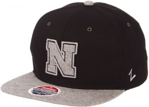 big sale 37aba efbac ... sale zephyr ncaa nebraska cornhuskers mens boss snapback hat adjustable  black grey 40f21 55e87