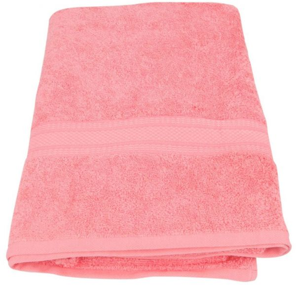 Just Linen Cotton Light Pink Bath Towel Souq Uae