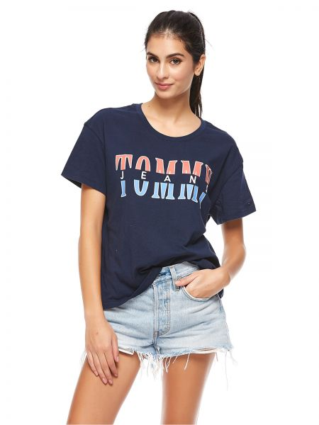 8a139bf5f Tommy Hilfiger T-Shirt for Women - Navy Blue   Souq - Egypt