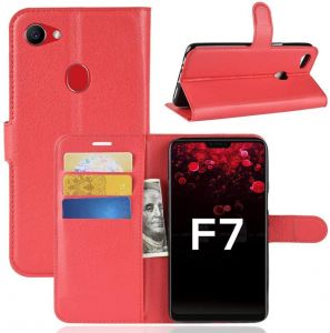 OPPO F7 Wallet Case Flip PU Leather Case With Card Holder Magnetic Protective Case For OPPO F7