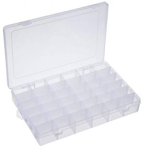 Plastic Organizer Container Storage Box Adjustable Divider Removable Grid  Compartment Big Clear Slot Box For Jewelry Beads Earring Container Tool  Fishing ... 35e08aa6c583