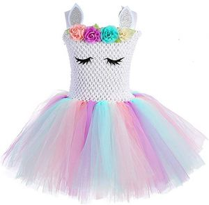 1cef82487 Children Girls Rainbow Unicorn Tutu Dress Princess Fancy Dress Birthday  Pageant Party Dresses Girls Christmas Halloween Pony Cosplay Costume for Baby  Girls ...
