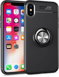 42888b15cb For iPhone xs cover car Phone Stand /360 rotation Ring Holder Covers For iPhone  x case Ultra Slim silicon TPU case 5.8 INCH