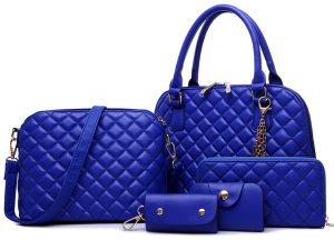 422d41960c26 Fashion 24 Crocodile Pattern Composite Women Shoulder Bags Set of 5 pcs -  Blue