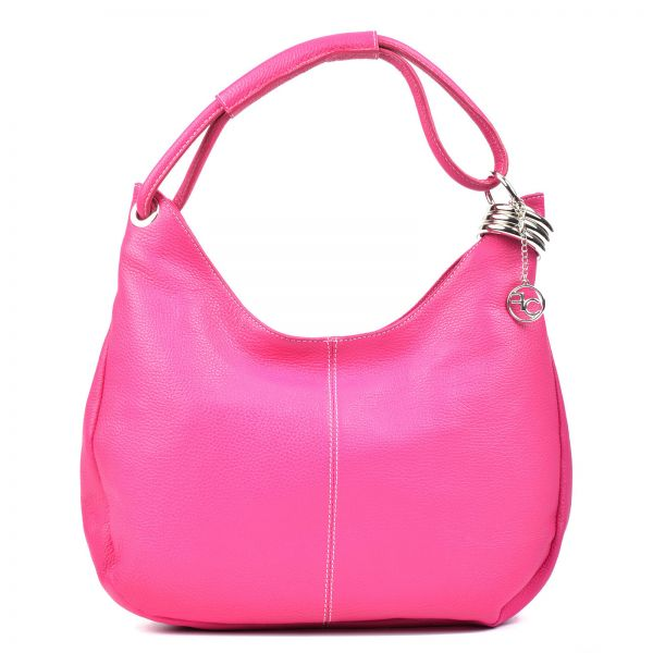 b6e0f22d853b Carla Ferreri Hot Pink Hobo Bag For Women