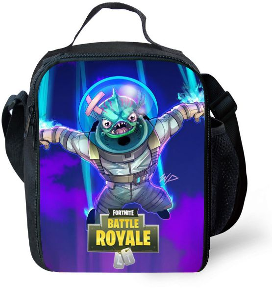Game Fortnite Cartoon Kids Lunch bag Campus Student lunch tote Handbag  Outdoor Picnic Lunch Inclined shoulder bag