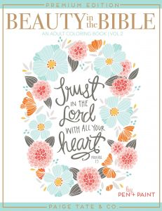 Beauty In The Bible Adult Coloring Book Volume 2 Premium Edition Christian Journaling And Lettering Inspirational Gifts