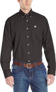 Cinch Mens Classic Fit Long Sleeve Button Down Oxford