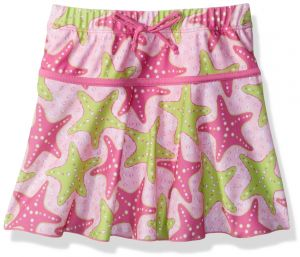 85ffb57441 Flap Happy Big Girls' UPF 50+ Swim Skirt with Built in Bikini Brief, Starry  Reef, 6X