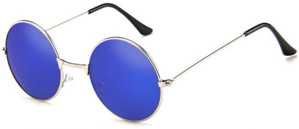 819994ca8627 Retro Round John Lennon Sunglasses Small Metal Frame Hippie Sun Glasses  Blue. by Other