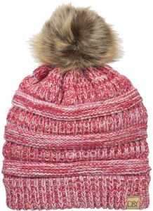D Y Women s David and Young s Marled Slinky Beanie Pom 2de4afb8a041
