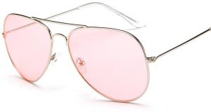66cb53fe7d1 Y D Women s Sunglasses Stylish Round Dial Retro Style Creative Design All  Match Eyeglasses Pink Color