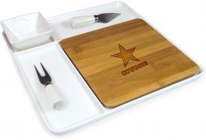 PICNIC TIME NFL Dallas Cowboys Homegating Peninsula Serving Tray with Cutting  Board and Cheese Tools 5af3fe5ad