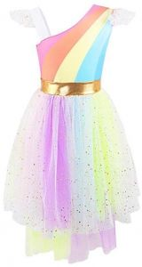 Rainbow Girls Unicorn Tutu Dress Cute Princess Fancy Dress Birthday Pageant Party  Dresses Girls Christmas Halloween Pony Dreams Princess for Baby Girls ... ffec338487d4