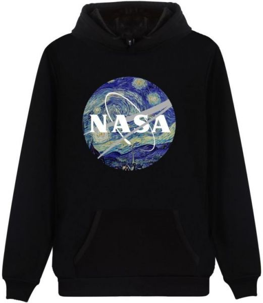 Hoodie Printed NASA National Space Administration Logo Sweatshirt Pullover  for men and women Black CL00818  3711b8f172