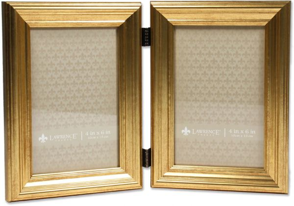 4x6 Hinged Double Sutter Burnished Gold Picture Frame Souq Uae