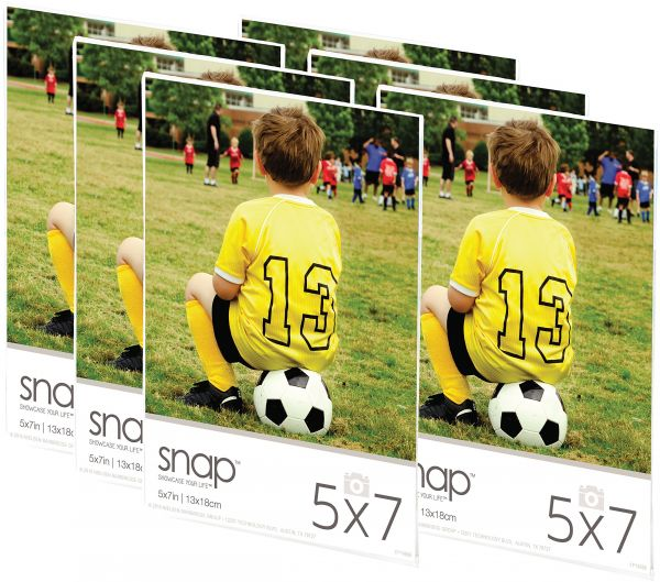 Snap 07fp886c Magnetic Acrylic Frame Set Of 6 5 X 7 Clear