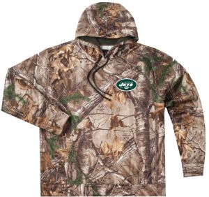 a711c1f42db Dunbrooke Apparel NFL New York Jets Adult Champion Realtree Xtra Polyester  Tech Fleece Full Zip Hoodie
