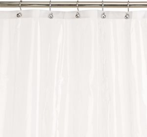 Carnation Home Fashions 10 Gauge PEVA 72 By Inch Shower Curtain Liner Standard Super Clear