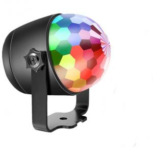 Disco Ball Lights Party Projector Led Magic Crystal Stage Dj Light Strobe 6 Colors Music 6 Colors