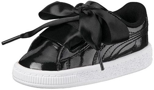 1009145116c3 Puma Kids Girls Basket Heart Glam Black. by Puma