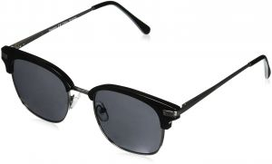 fc5d3105eb0 Peepers Women s Water Color Sun - Black Square Sunglasses 1.5